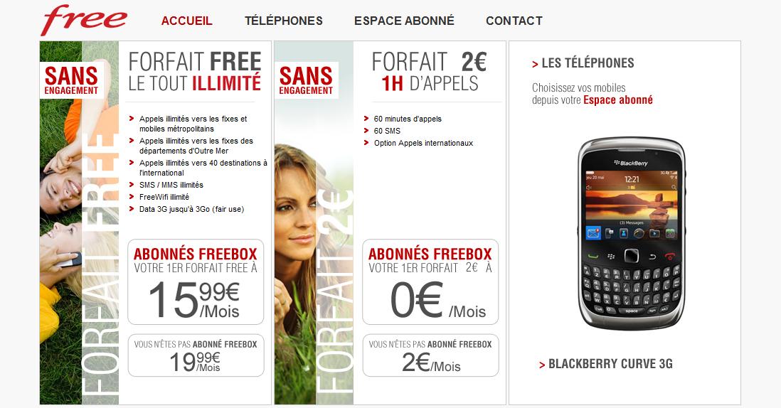 Free Mobile : le portail