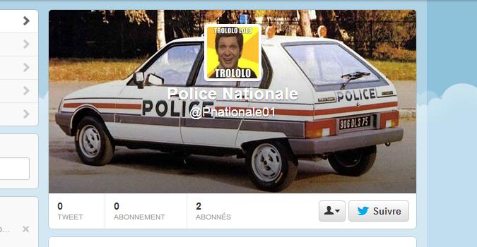 Oops, la police oublie de réserver les autres comptes Twitter