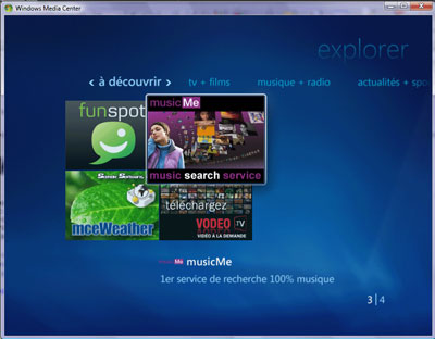 Musicme sur toutes les tv sous vista via le windows media for Fenetre sur cour streaming