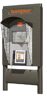 orange met jour les cabines t l phoniques avec cran. Black Bedroom Furniture Sets. Home Design Ideas