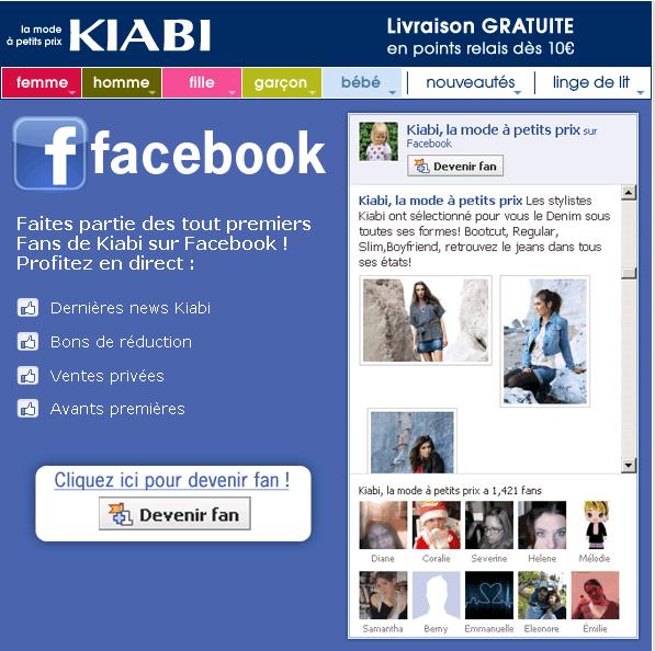 Kiabi se fait couper sa page facebook avec 130 000 membres for Entreprise qui rapporte