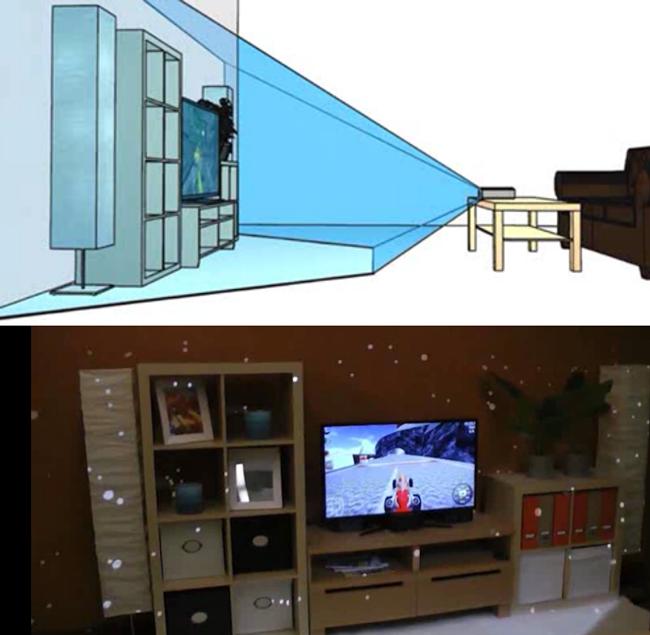 illumiroom un mini vid oprojecteur pour la future xbox pop culture numerama. Black Bedroom Furniture Sets. Home Design Ideas