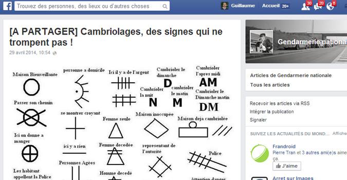 quand la gendarmerie publie avec s rieux un hoax sur facebook business numerama. Black Bedroom Furniture Sets. Home Design Ideas