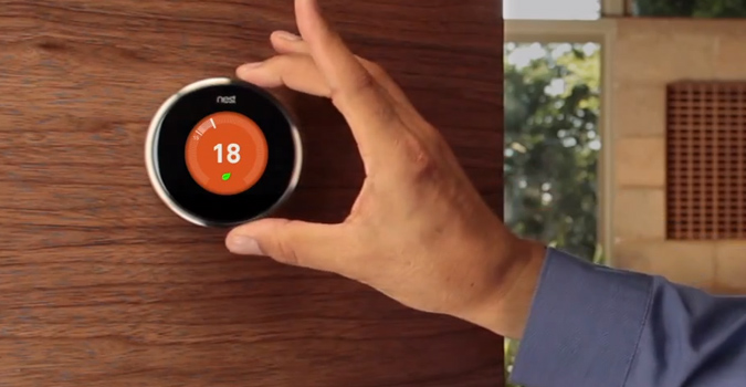 Un thermostat connecté de Nest.
