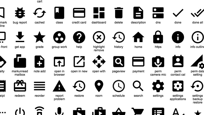 material design   google offre des ic u00f4nes sous licence