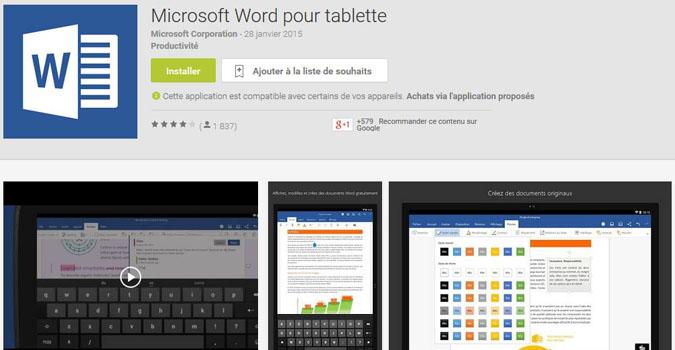 Office arrive sur les tablettes android tech numerama - Telecharger open office gratuit pour tablette android ...