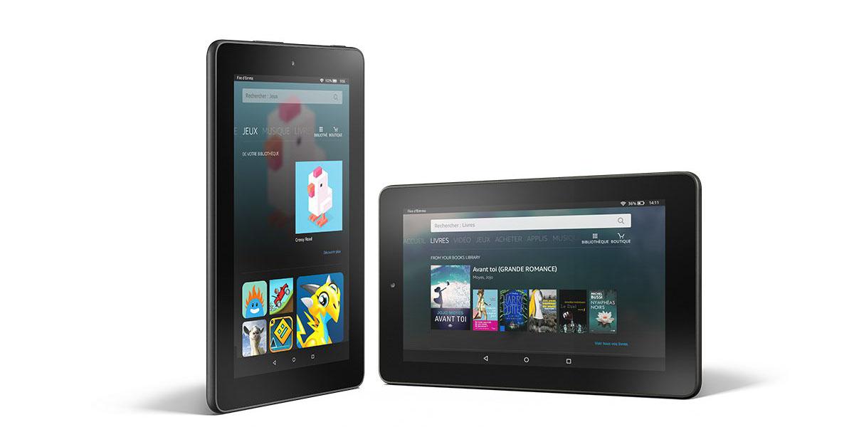amazon d voile une tablette fire moins de 60 euros tech numerama. Black Bedroom Furniture Sets. Home Design Ideas