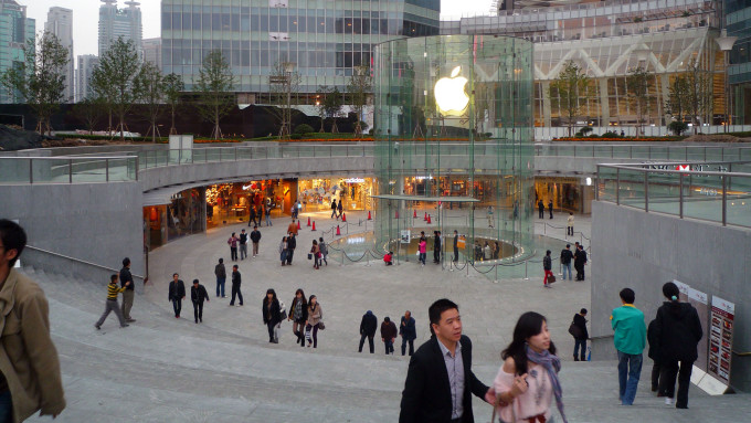 Un Apple Store en Chine.