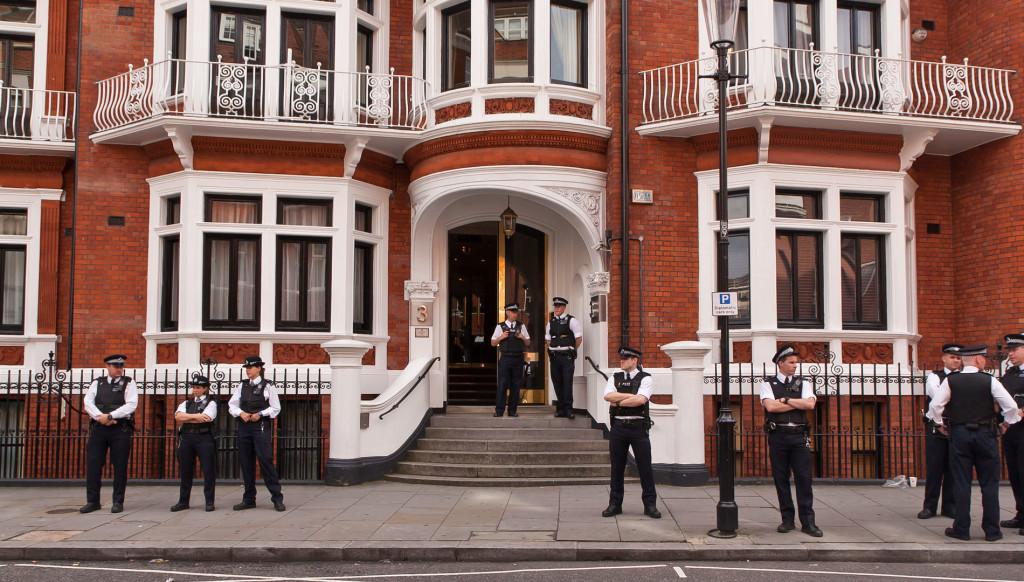 L'ambassade d'Équateur à Londres.