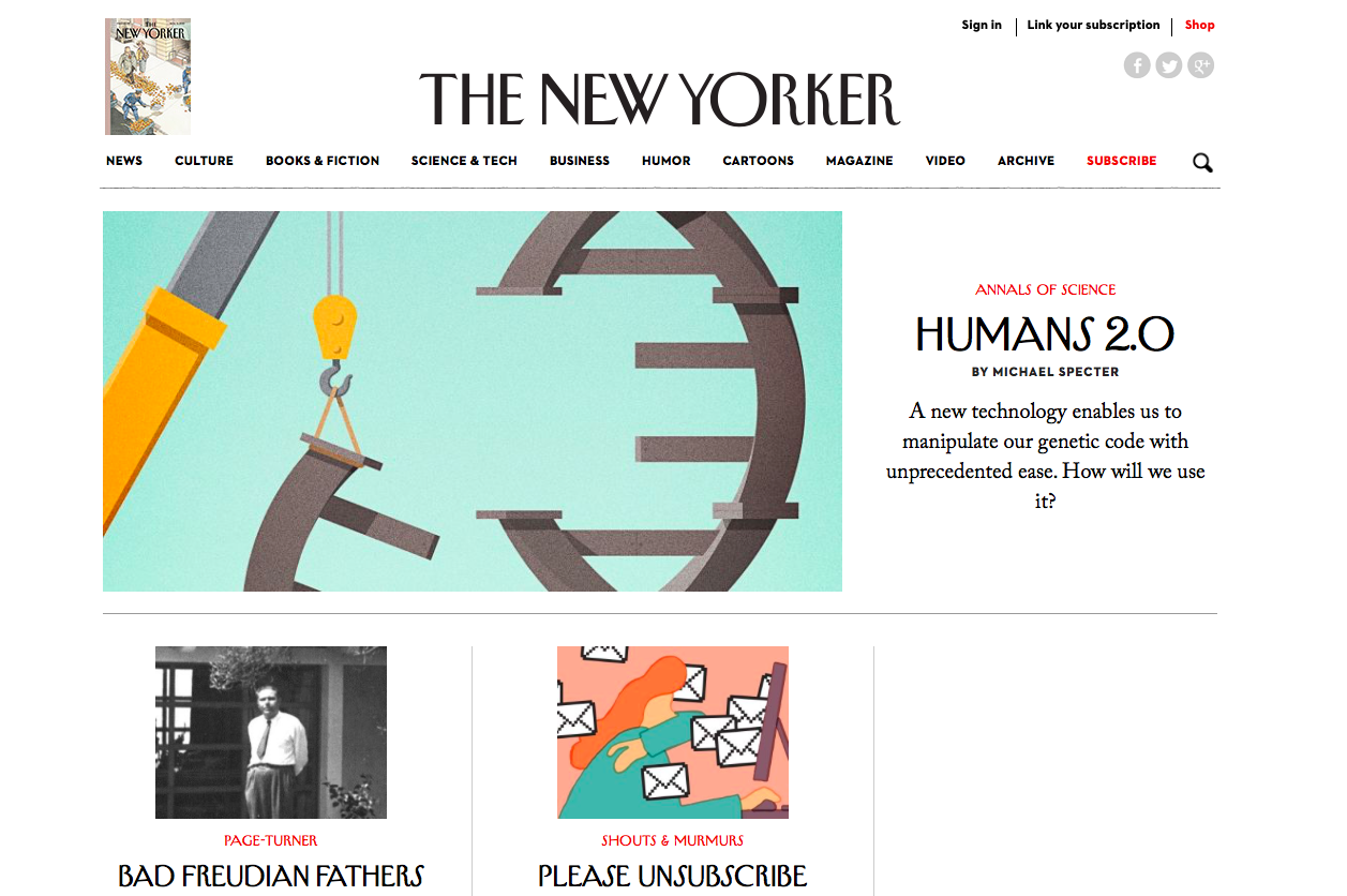 Le New Yorker, propulsé par WordPress