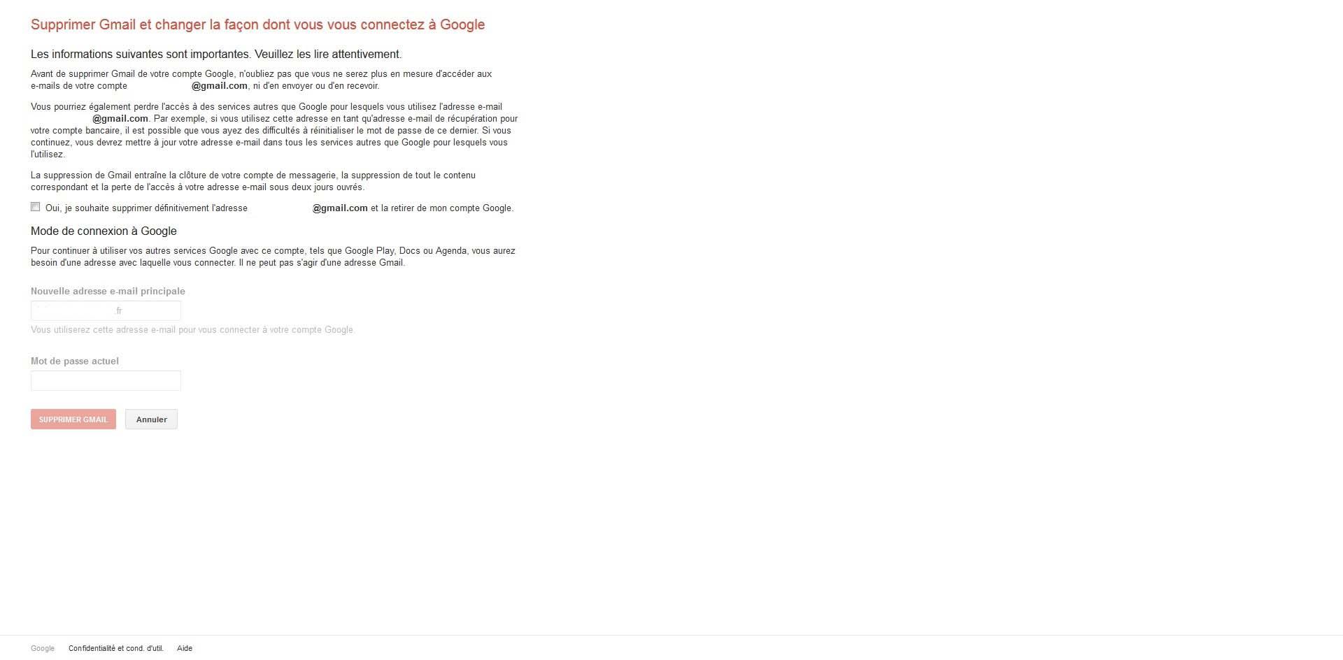 comment supprimer un compte gmail - tech