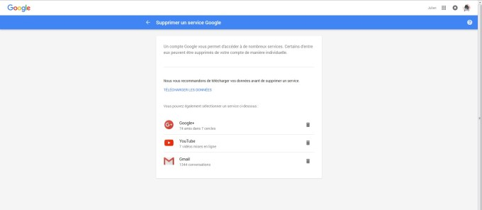 Suppression Gmail