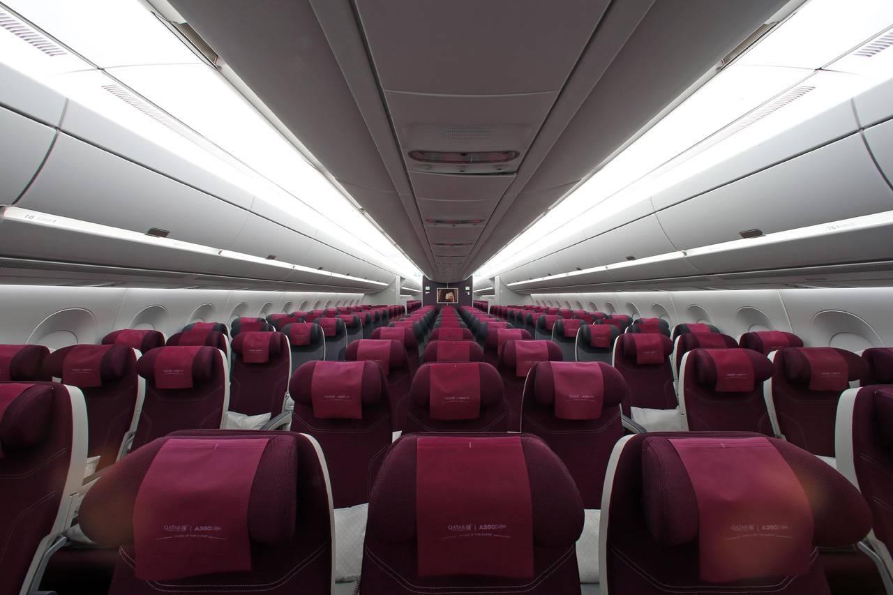 Airbus mise sur la lumi re pour lutter contre le jetlag for Interieur qatar airways