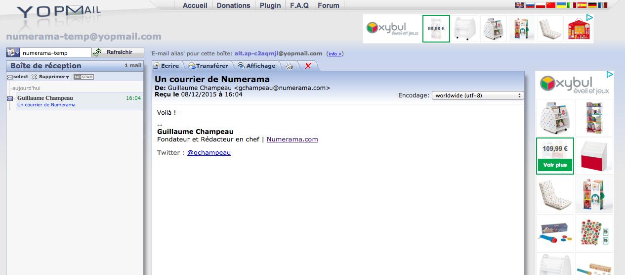 Créer une adresse email jetable contre le spam - Tech ...