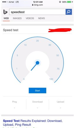 Speedtest Bing