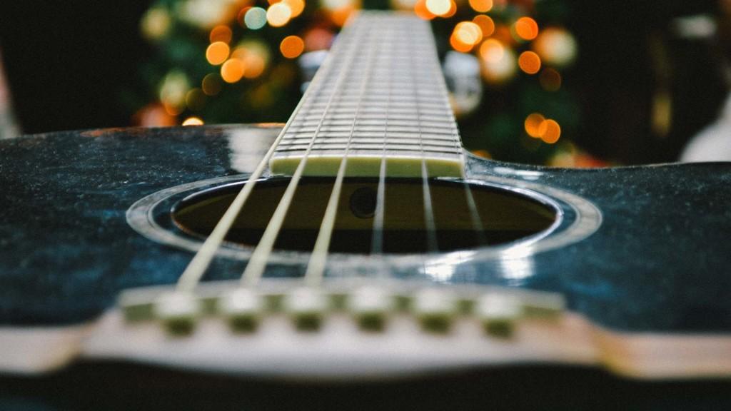 Guitare bokeh
