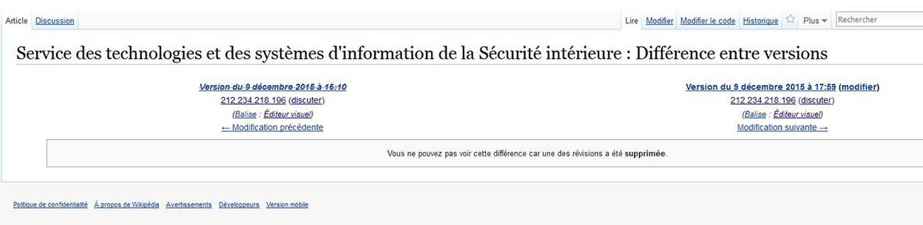 Wikip dia bloque des trolls du minist re de l 39 int rieur for Adresse ministere de l interieur