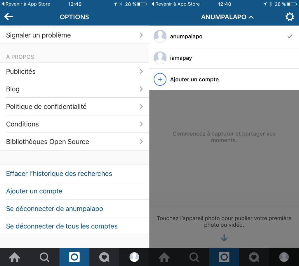 La mise à jour d'Instagram propose le multi-compte sur Android et iOS