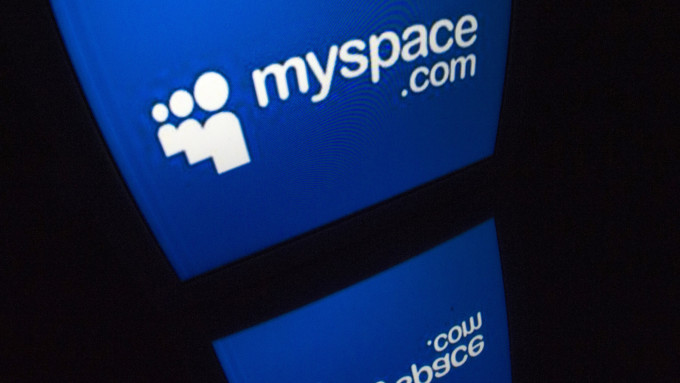 "The ""Myspace"" logo is seen on a tablet screen on December 4, 2012 in Paris. AFP PHOTO / LIONEL BONAVENTURE (Photo credit should read LIONEL BONAVENTURE/AFP/Getty Images)"