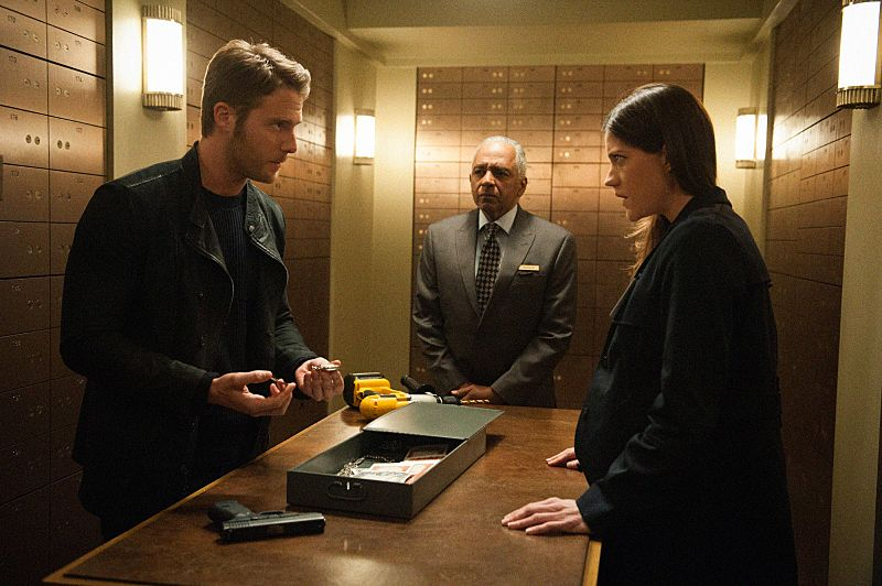 """Pilot"" -- Brian Finch's life takes an extraordinary turn when he uses a mysterious drug, NZT, that allows him to access his full brain capacity. However, when an NZT-related murder lands Brian on the FBI's radar, he uses the drug in an attempt to stay ahead of the authorities long enough to clear his name, on the series premiere of LIMITLESS, Tuesday, Sept. 22 (10:00-11:00 PM, ET/PT), on the CBS Television Network. Academy Award nominee Bradley Cooper executive produces and recurs as Senator Edward Morra. Pictured (l-r) Jake McDorman as Brian Finch and Jennifer Carpenter as Agent Rebecca Harris Photo: JOJO WHILDEN©2015 CBS Broadcasting, Inc. All Rights Reserved"