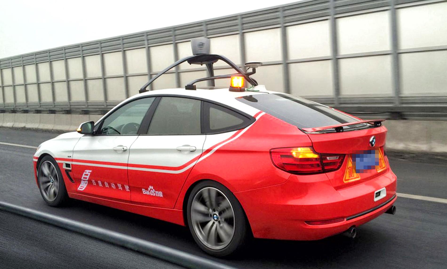 Une voiture autonome de Baidu