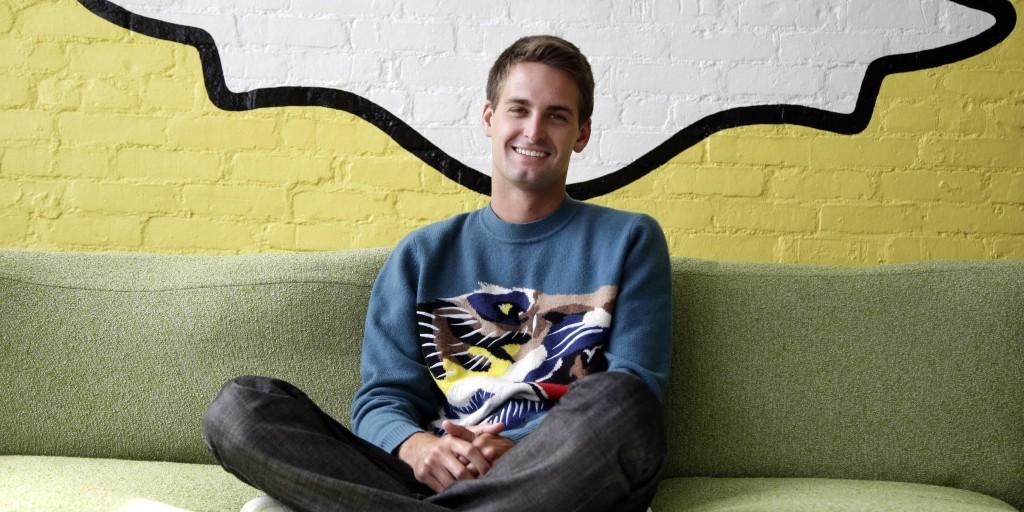 Evan Spiegel, CEO de Snapchat