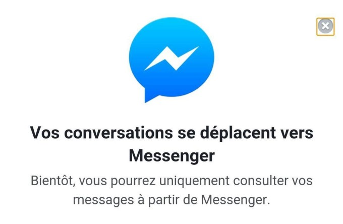 Messenger site mobile