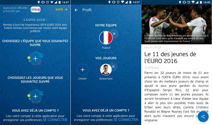 Screen appli Euro 2016