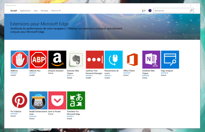 Anniversary Update Microsoft Edge Extensions Windows Store