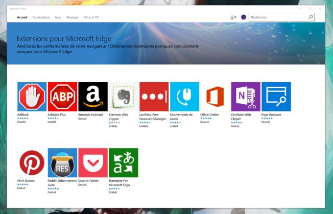 Anniversary Update Microsoft Edge Extensions Windows Store