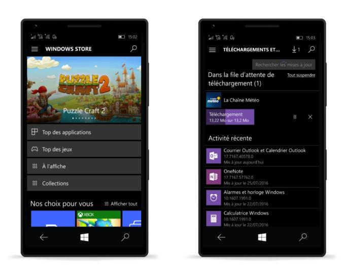 Anniversary Update mobile Windows Store