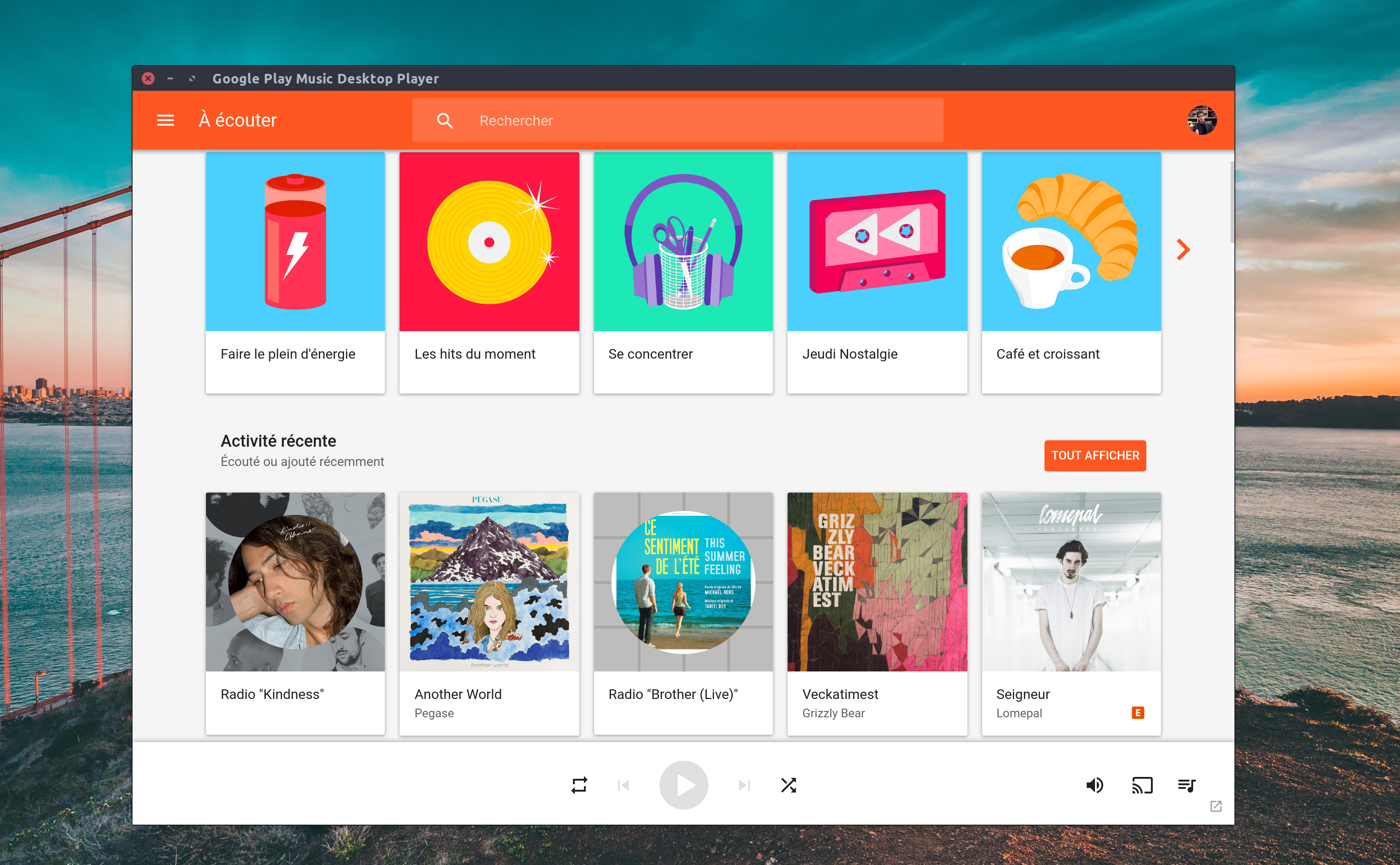 google play music client linux