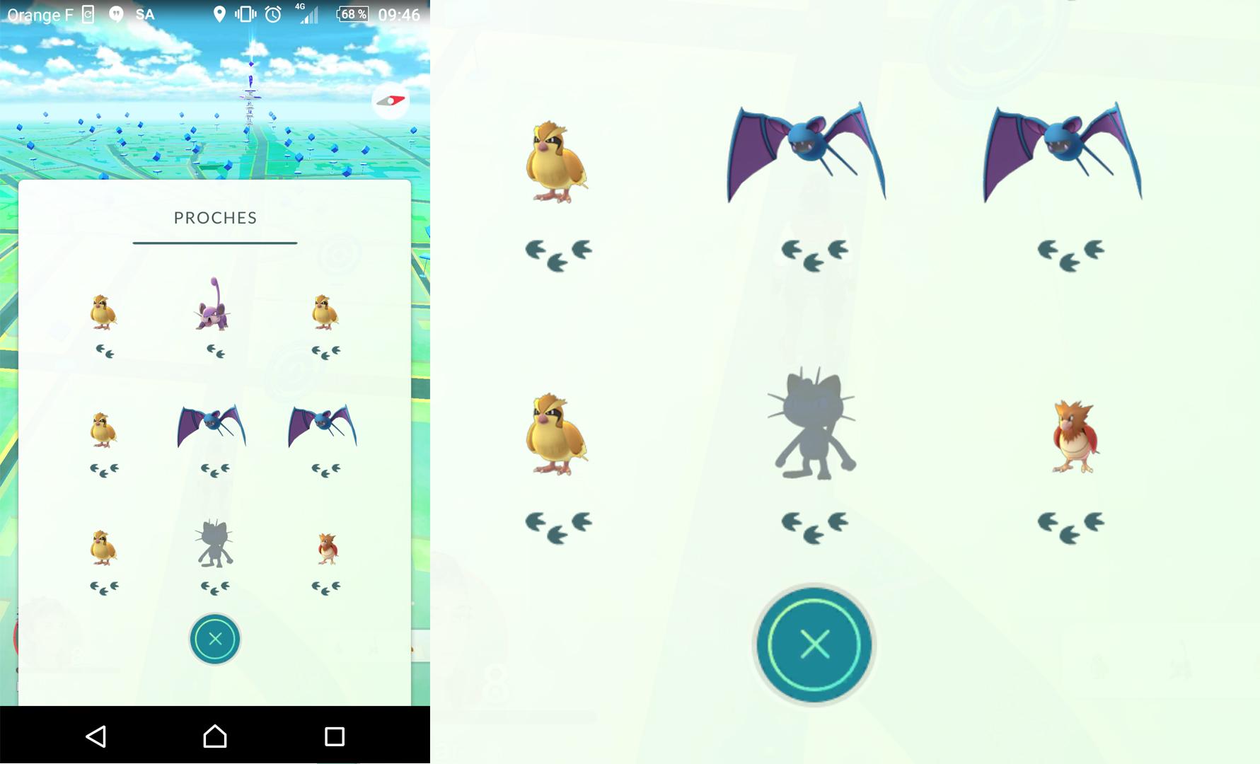Proches pokémon Go