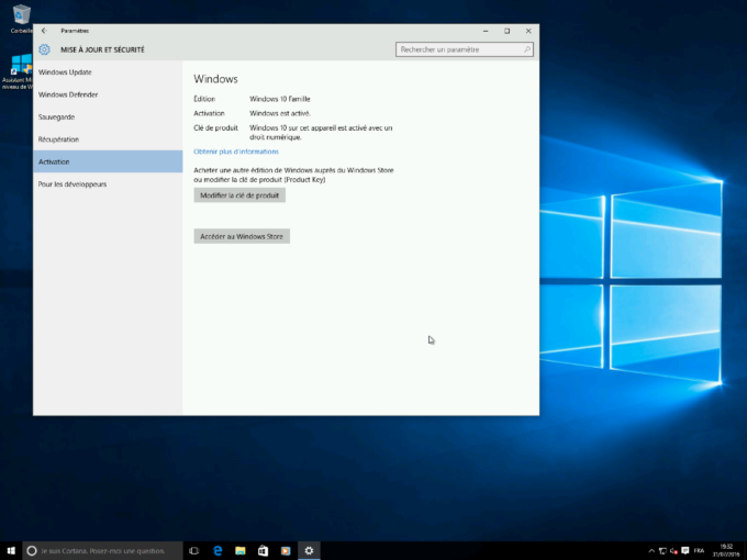 Windows 10 offre handicapé activation