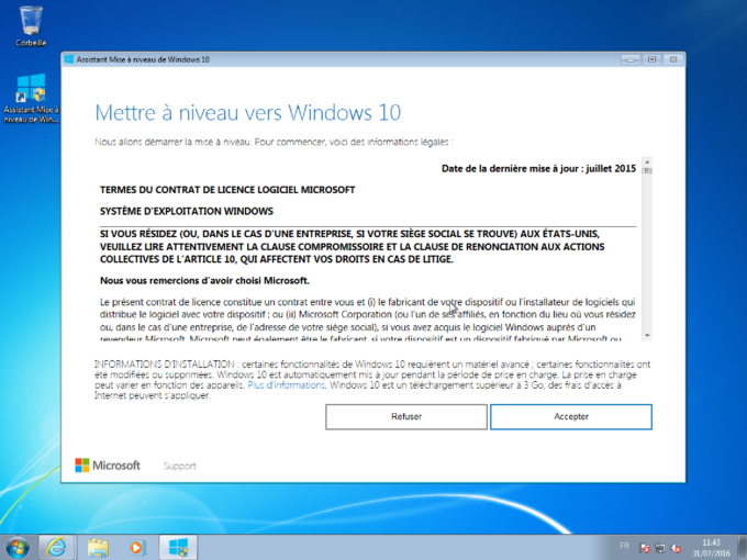 Windows 7 mise à jour gratuite windows 10 handicapés