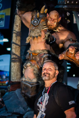 Chris Metzen statue