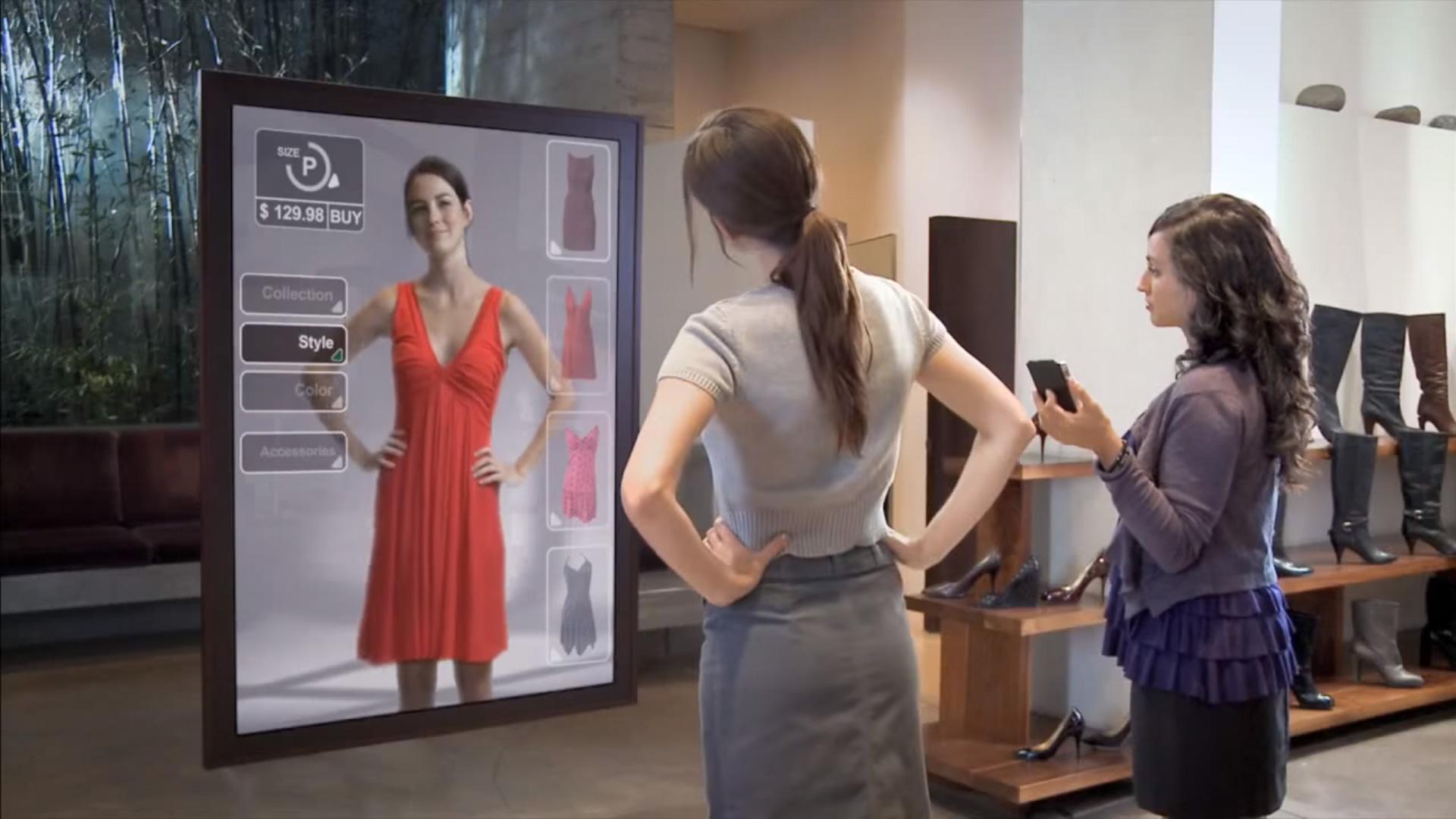 Amazon a brevet un miroir magique pour essayer les for Miroir intelligent