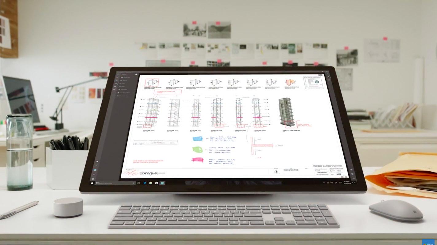 le surface studio peut il faire sortir les designers de l 39 univers apple tech numerama. Black Bedroom Furniture Sets. Home Design Ideas