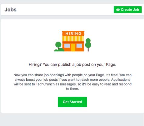 Les offres d'emploi font leur apparition sur le site — Facebook