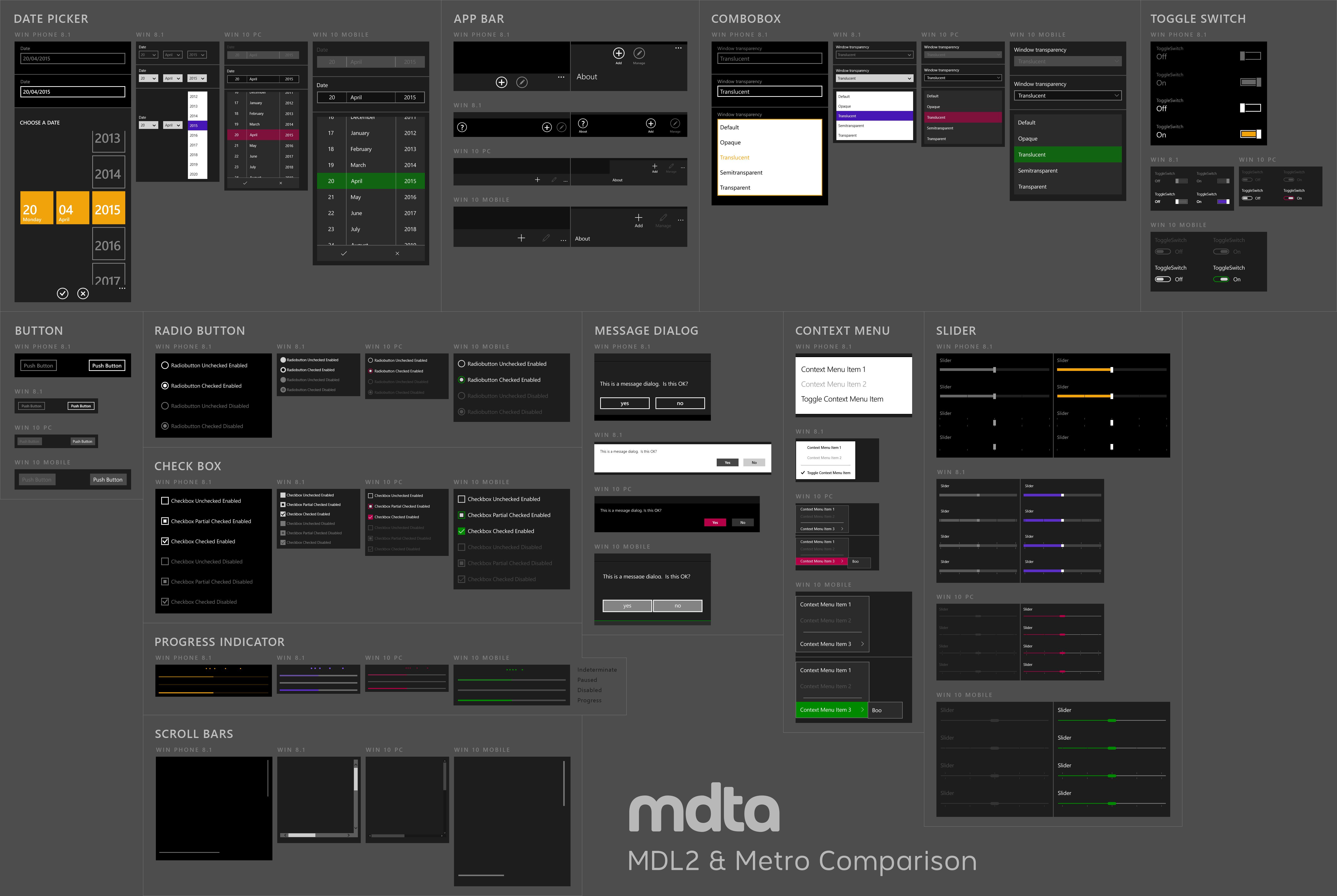 En 2017 microsoft va retravailler toute la charte for Window design ms