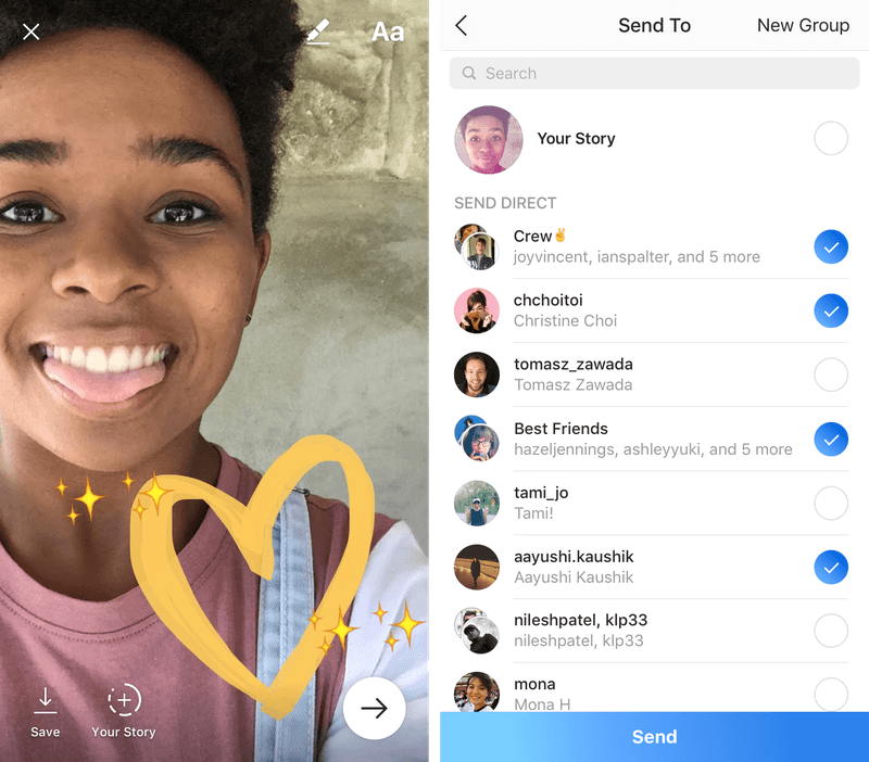 La nouvelle messagerie d'Instagram