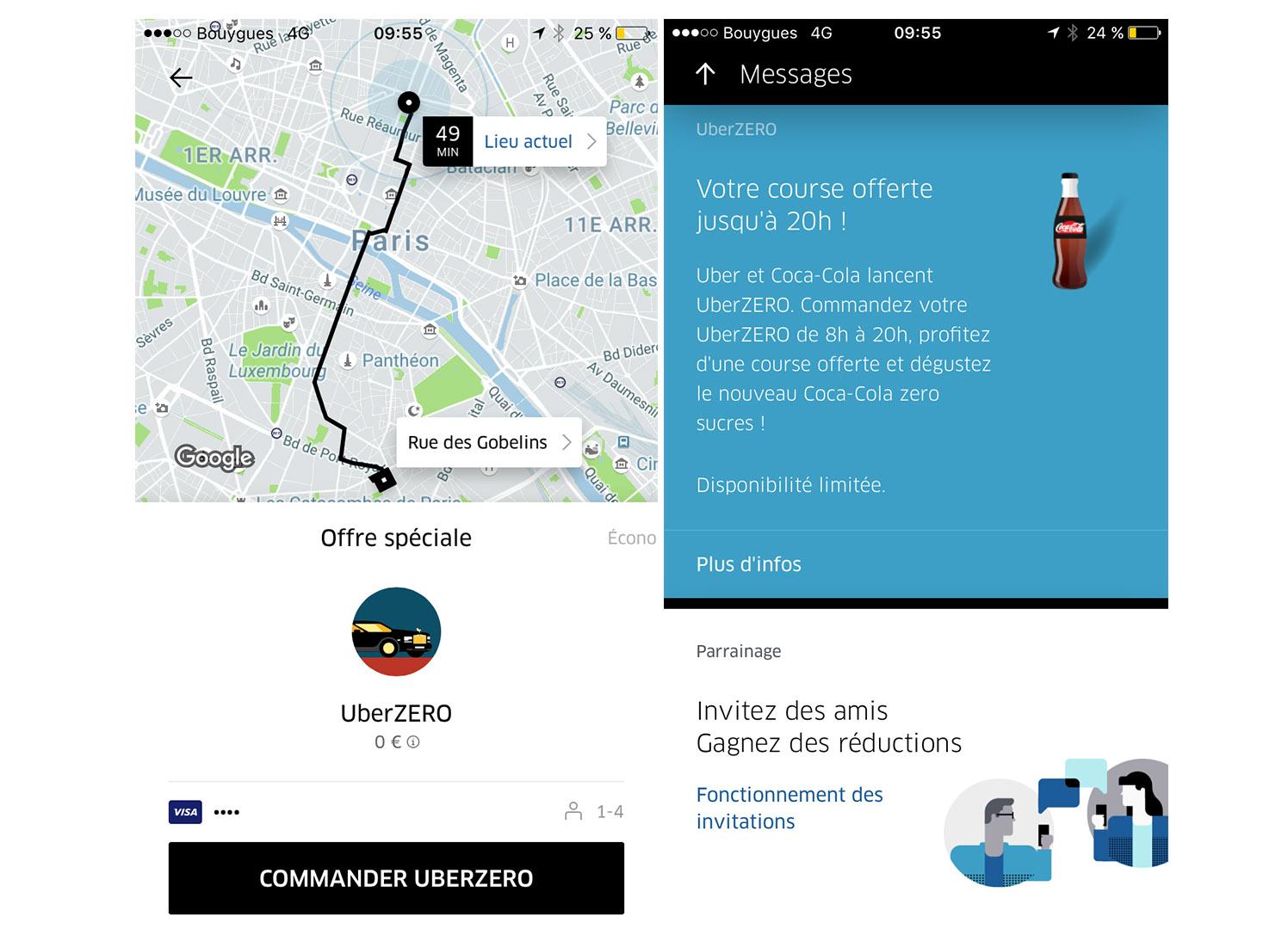 aujourd 39 hui vous pouvez prendre un uber gratuitement dans 5 villes de france tech numerama. Black Bedroom Furniture Sets. Home Design Ideas