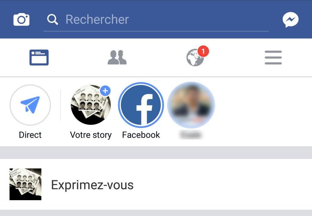 Facebook, un bouton