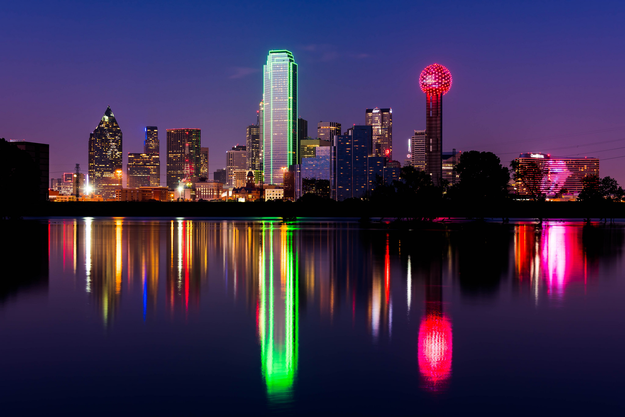 dallas skyline etats-unis texas