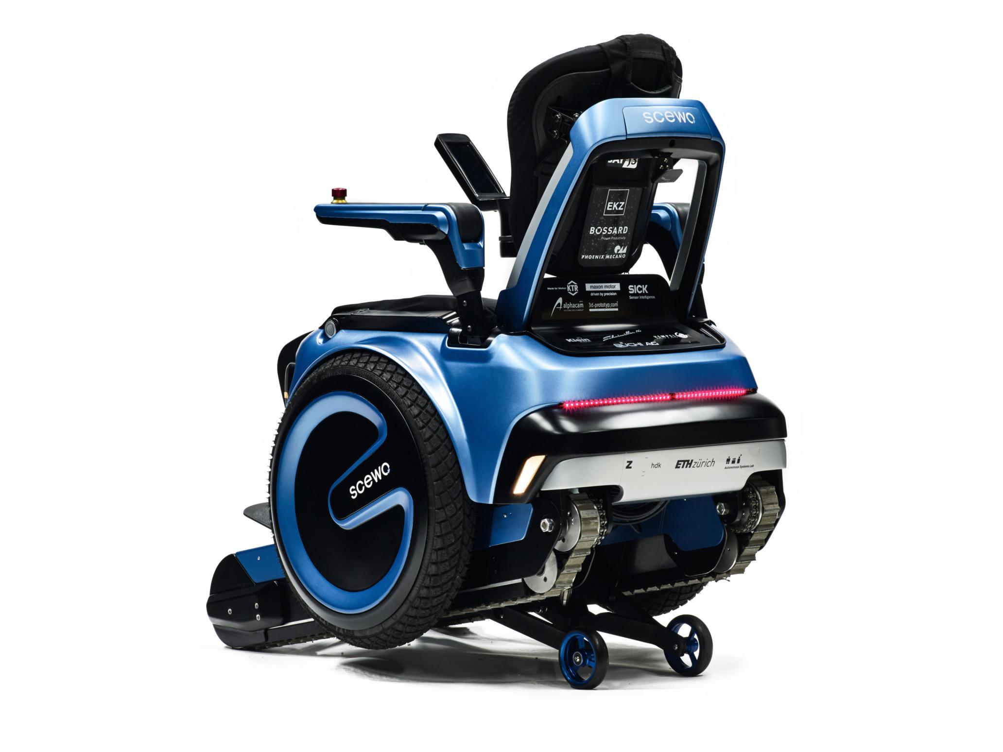 d couvrez scewo le fauteuil roulant capable de gravir des escaliers tech numerama. Black Bedroom Furniture Sets. Home Design Ideas
