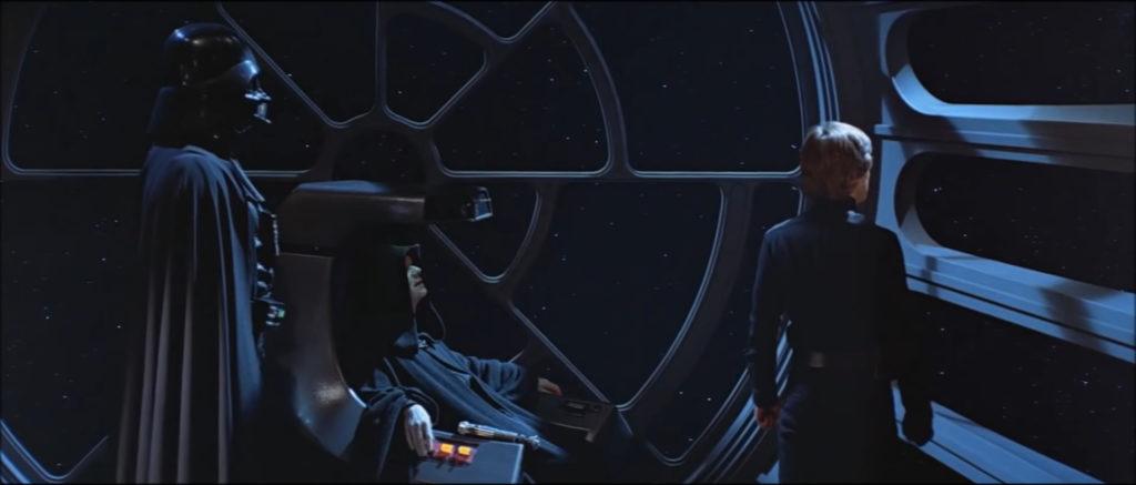 Dark Vador, Palpatine et Luke Skywalker
