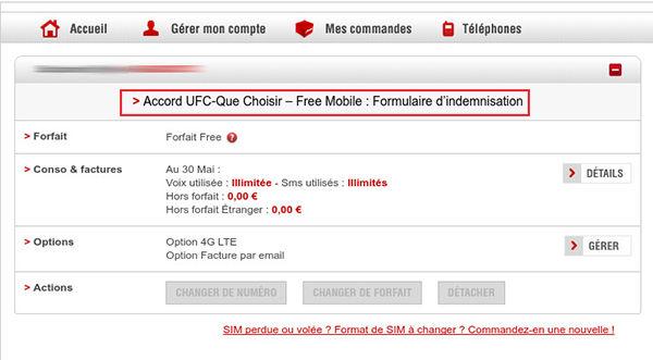 Qualité de service mobile - Accord UFC-Que Choisir - Free Mobile