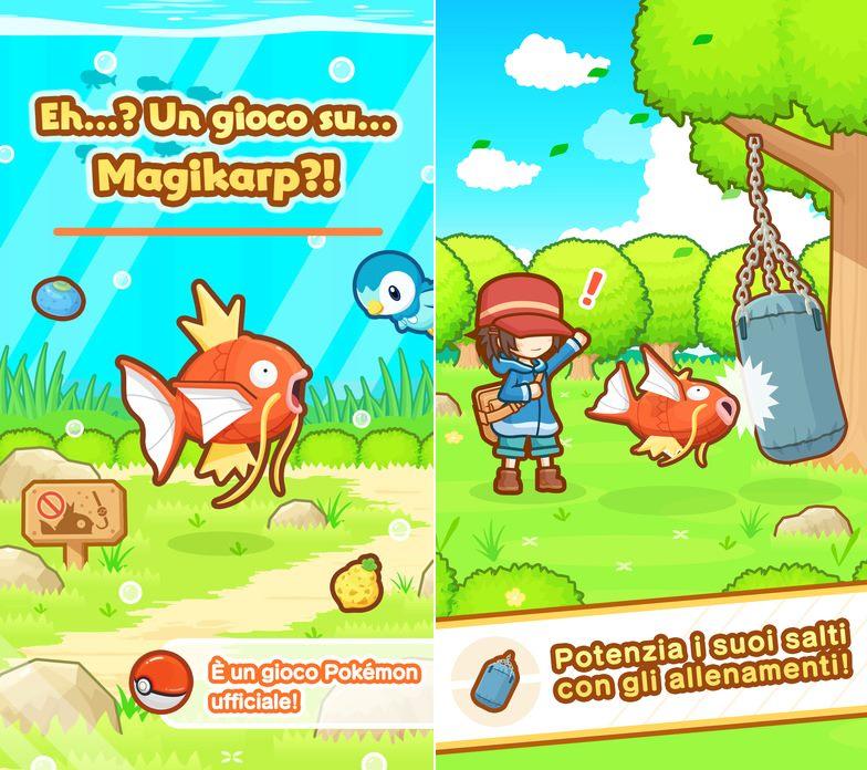 Magicarpe Jump est disponible sur iOS et Android — Pokémon