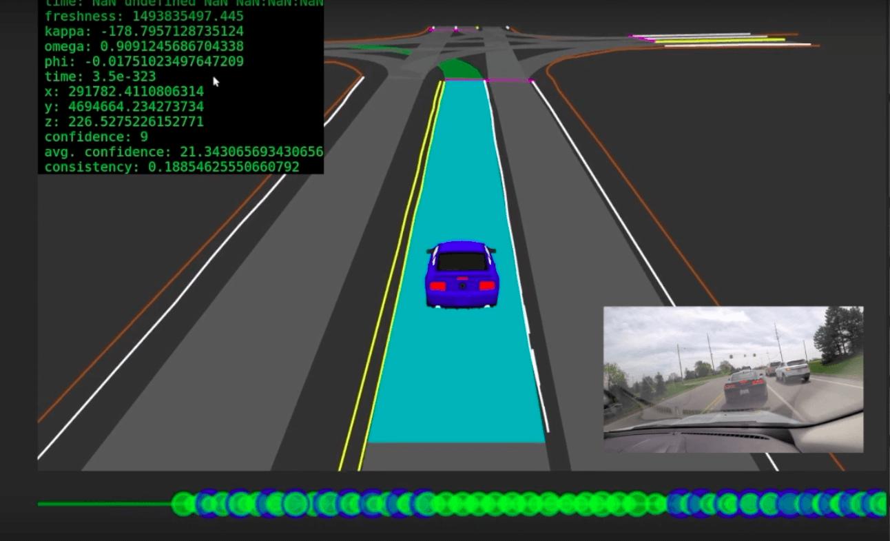 D couvrez comment une voiture autonome visualise la route for Moquette route voiture