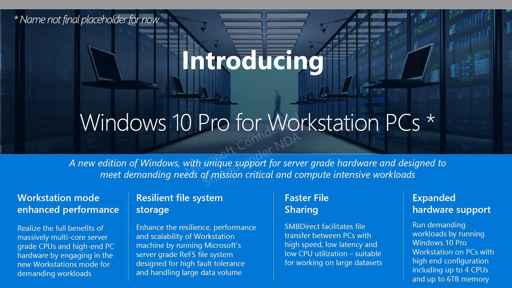 Un Windows 10 Pro en préparation — Microsoft
